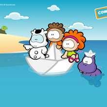 Amigos navegando