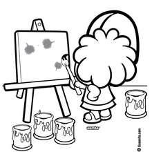 Dibujo de Wamba pintando - Dibujos para Colorear y Pintar - Dibujos para colorear PERSONAJES - PERSONAJES COMIC para colorear - Dibujos para colorear GUSANITO - Dibujos para pintar WAMBA