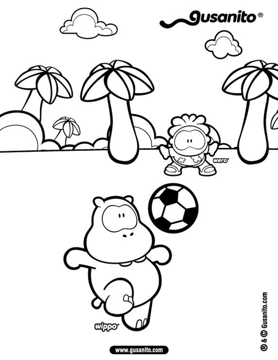 Dibujos para colorear wippo y wero futbolistas - es ...: http://es.hellokids.com/c_7831/dibujos-para-colorear/personajes/gusanito/wippo-y-wero-futbolistas