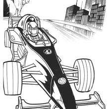 Dibujo para colorear : Action Man y Formula 1