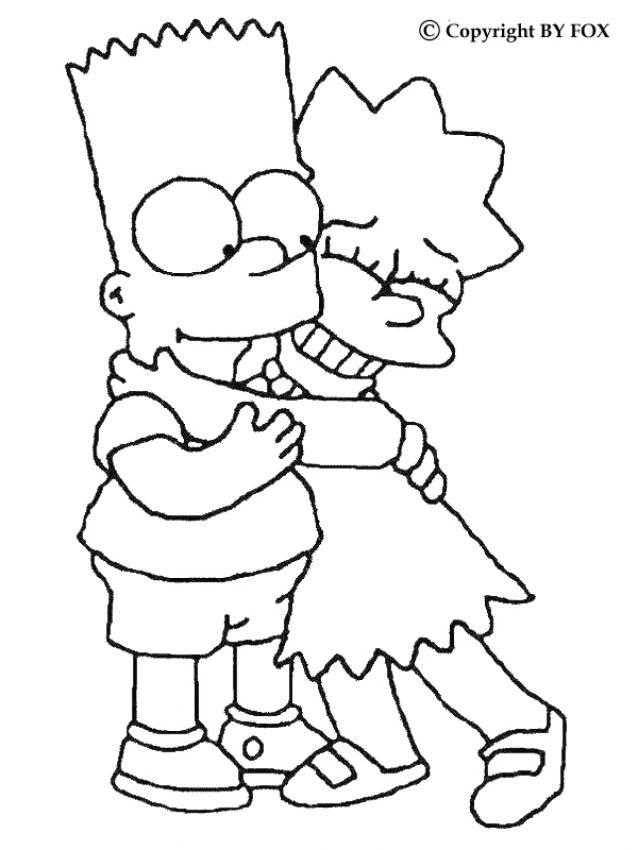 Dibujos Para Pintar Los Simpson Gratis Dibujos Para