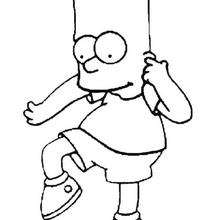 Dibujo para colorear : Bart