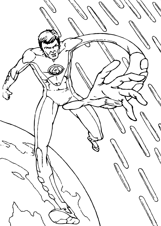 elastico superheroes coloring pages - photo#2