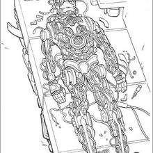 Dibujo para colorear : C3PO en construcción