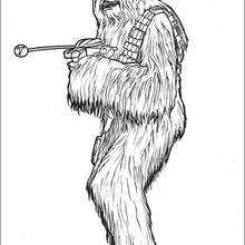 Chewbacca - Dibujos para Colorear y Pintar - Dibujos de PELICULAS colorear - Dibujos para colorear STAR WARS - Dibujos para colorear GUERRA DE LAS GALAXIAS