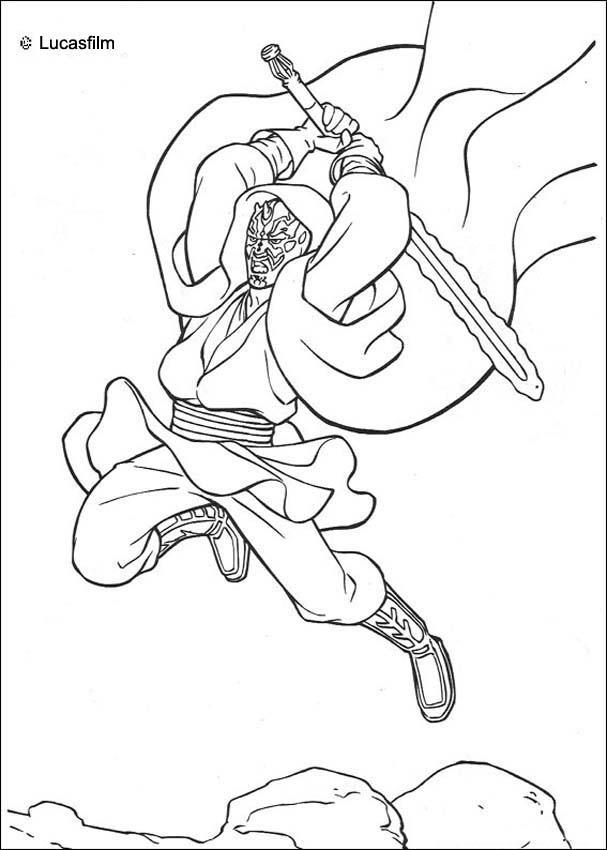 Dibujos para colorear anakin skywalker - es.hellokids.com