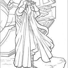 Dibujo para colorear : Darth Maul buscanod a los Jedi