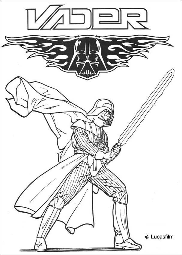 Dibujos para colorear darth vader, señor de los siths - es.hellokids.com