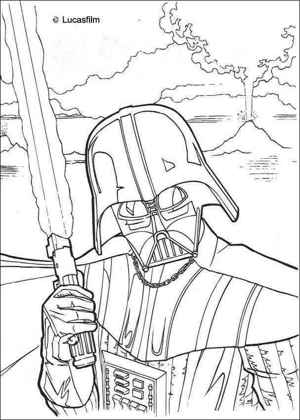 Dibujos para colorear casco de darth vader - es.hellokids.com