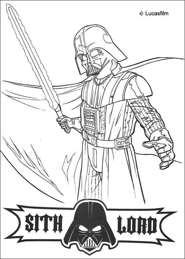 Dibujos para colorear darth vader - es.hellokids.com