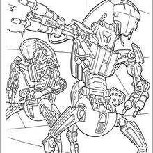 Dibujo para colorear : Los cazas droides