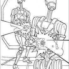 Dibujo para colorear : Droides de batalla de la Federación de comercio