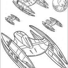 Dibujo para colorear : Droides de la Federación de comercio