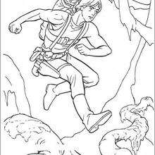 La preparación de Luke con Yoda - Dibujos para Colorear y Pintar - Dibujos de PELICULAS colorear - Dibujos para colorear STAR WARS - Dibujos para colorear MAESTRO YODA