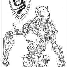 Dibujo para colorear : General Grievous