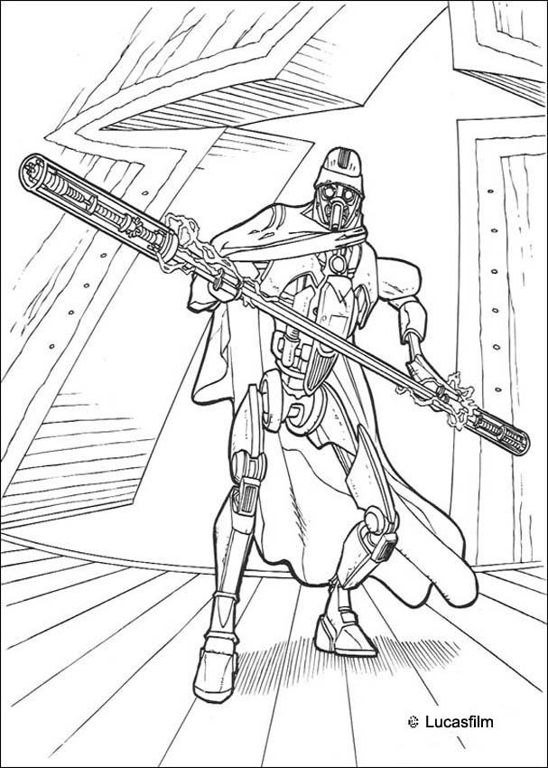 Dibujos para colorear un comandante clone - es.hellokids.com
