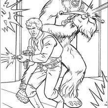 Han Solo y Chewbacca - Dibujos para Colorear y Pintar - Dibujos de PELICULAS colorear - Dibujos para colorear STAR WARS - Dibujos para pintar gratis STAR WARS