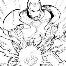 Dibujo para colorear Iron Man y su energia - Dibujos para Colorear y Pintar - Dibujos para colorear SUPERHEROES - Dibujos para colorear IRON MAN