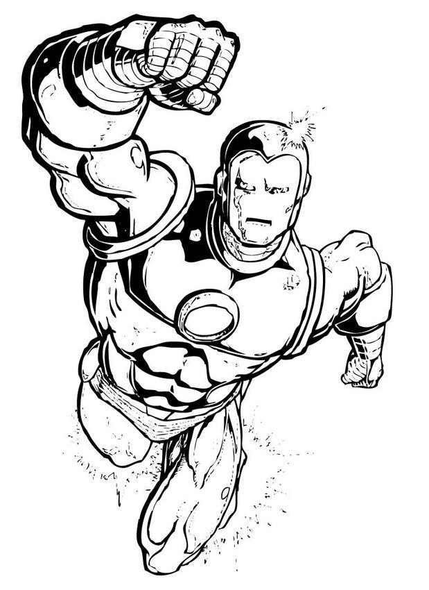 Dibujos para colorear iron man - es.hellokids.com