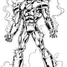 Dibujo para colorear armadura de Iron Man - Dibujos para Colorear y Pintar - Dibujos para colorear SUPERHEROES - Dibujos para colorear IRON MAN
