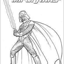 La armadura de batalla de Darth Vader - Dibujos para Colorear y Pintar - Dibujos de PELICULAS colorear - Dibujos para colorear STAR WARS - Dibujos para colorear DARTH VADER
