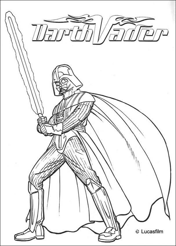 Dibujos para colorear la armadura de batalla de darth vader - es ...