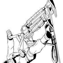 La moto de Action Man - Dibujos para Colorear y Pintar - Dibujos para colorear SUPERHEROES - Action Man para colorear