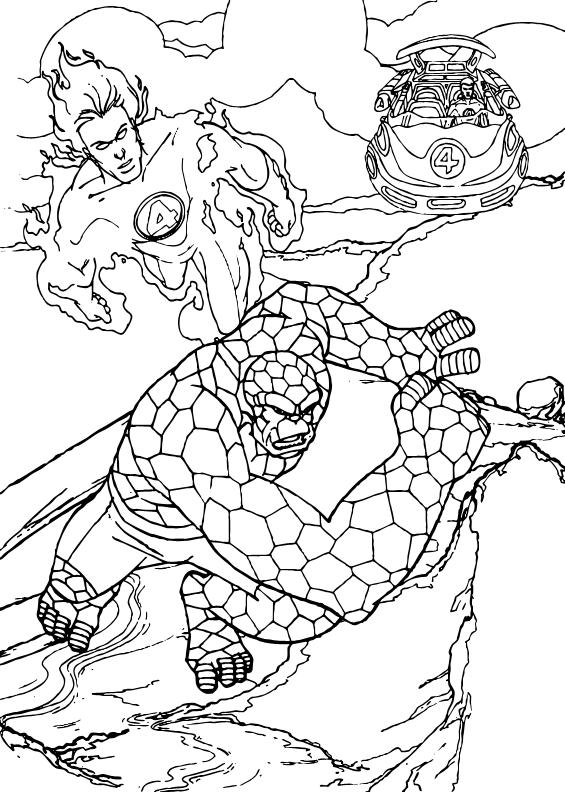 Dibujos para colorear johnny en llamas - es.hellokids.com