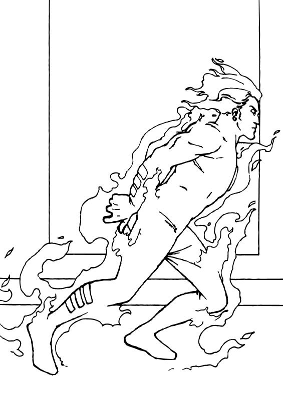 La Antorcha - Dibujos para colorear ANTORCHA HUMANA