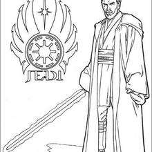 Dibujo para colorear : El Jedi, Obi Wan Kenobi