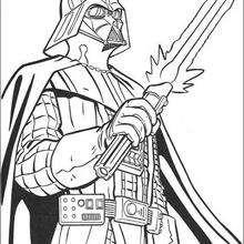 El sable lazer de Darth Vader - Dibujos para Colorear y Pintar - Dibujos de PELICULAS colorear - Dibujos para colorear STAR WARS - Dibujos para colorear DARTH VADER