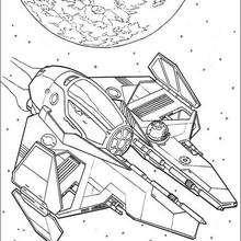 La nave de Anakin - Dibujos para Colorear y Pintar - Dibujos de PELICULAS colorear - Dibujos para colorear STAR WARS - Dibujos para colorear ANAKIN SKYWALKER