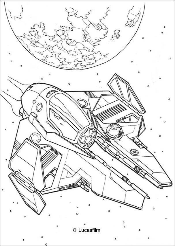 Dibujos para colorear la nave de anakin - es.hellokids.com