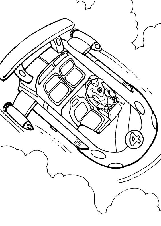 Dibujos para colorear la nave - es.hellokids.com