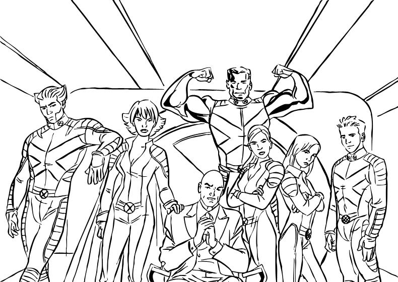 Dibujos de X Men para pintar, Los superhéroes de la escuela para ...