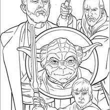 Los Jedi - Dibujos para Colorear y Pintar - Dibujos de PELICULAS colorear - Dibujos para colorear STAR WARS - Dibujos para colorear JEDI STAR WARS