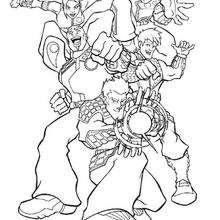 Los superhéroes - Dibujos para Colorear y Pintar - Dibujos para colorear SUPERHEROES - Action Man para colorear