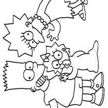 Dibujo para colorear e imprimir LOS SIMPSON - Dibujos para Colorear y Pintar - Dibujos para colorear PERSONAJES - PERSONAJES TV para colorear - Dibujos para pintar LOS SIMPSON gratis