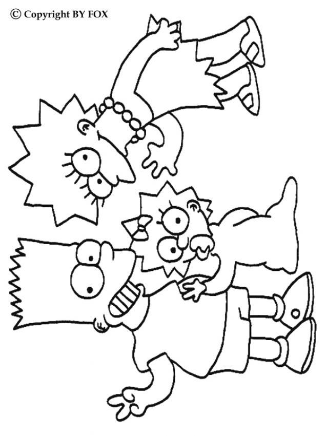 Hermosa Páginas Para Colorear De Simpsons Para Imprimir Ornamento ...