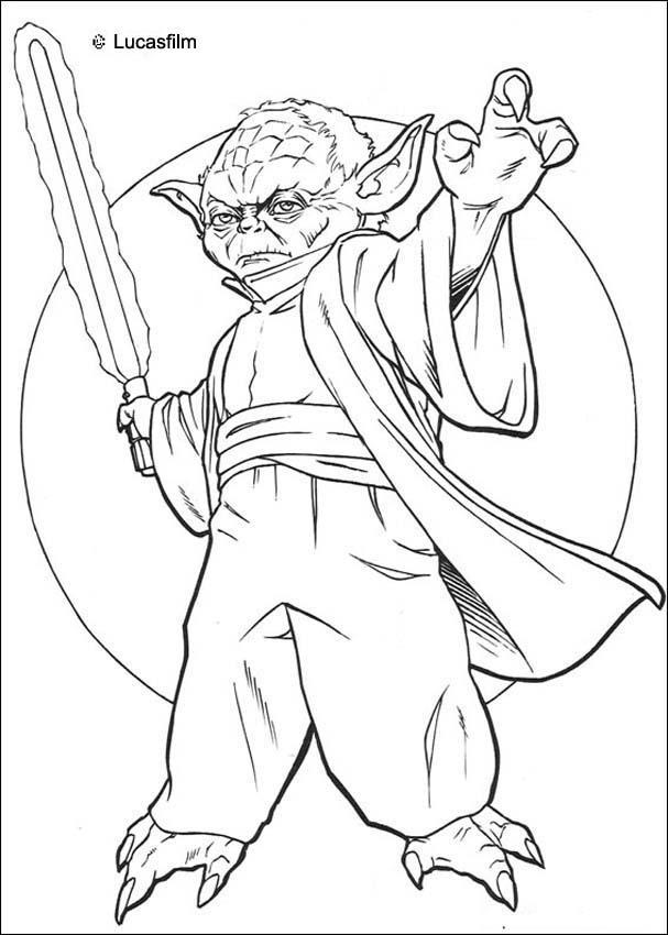 Dibujos para colorear maestro yoda - es.hellokids.com