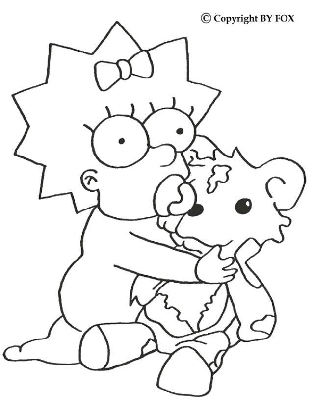 Dibujos para colorear maggie simpson  eshellokidscom