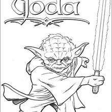 dibujo de Yoda - Dibujos para Colorear y Pintar - Dibujos de PELICULAS colorear - Dibujos para colorear STAR WARS - Dibujos para colorear MAESTRO YODA