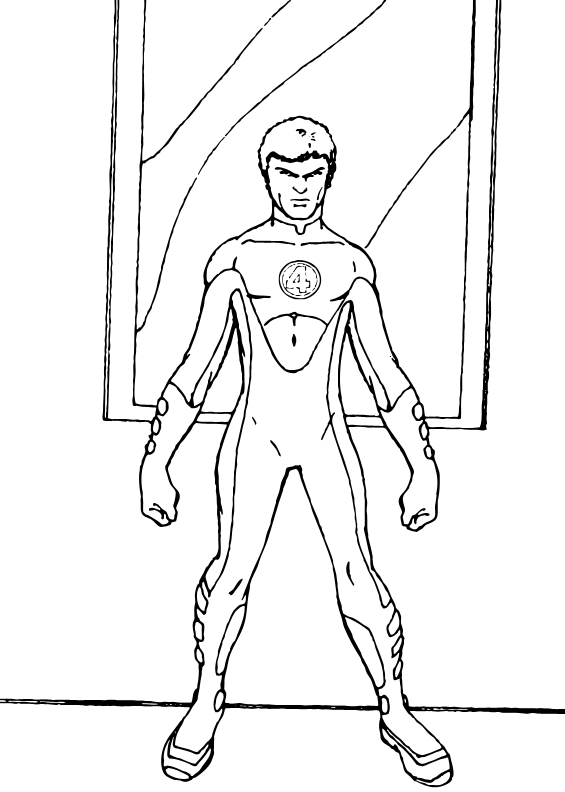 elastico superheroes coloring pages - photo#36