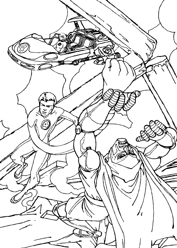 elastico superheroes coloring pages - photo#15