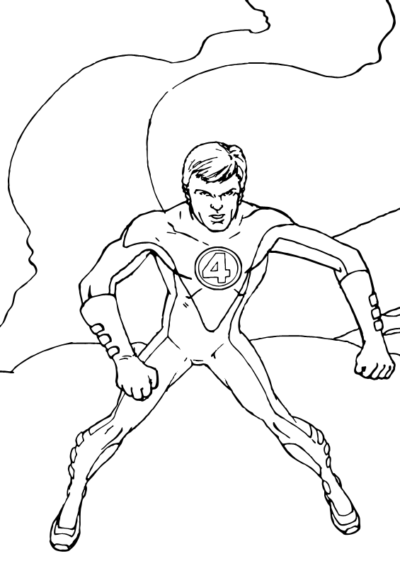 elastico superheroes coloring pages - photo#3