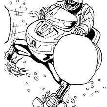Moto de nieve - Dibujos para Colorear y Pintar - Dibujos para colorear SUPERHEROES - Action Man para colorear