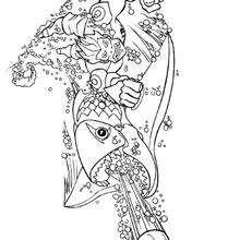 Dibujo para colorear : El pez metralleta