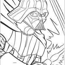 Retrato de Darth Vader - Dibujos para Colorear y Pintar - Dibujos de PELICULAS colorear - Dibujos para colorear STAR WARS - Dibujos para colorear DARTH VADER