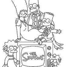Dibujo para colorear LA FAMILIA SIMPSON - Dibujos para Colorear y Pintar - Dibujos para colorear PERSONAJES - PERSONAJES TV para colorear - Dibujos para pintar LOS SIMPSON gratis