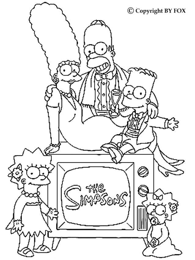 Dibujos Para Colorear La Familia Simpson Elegante Eshellokidscom